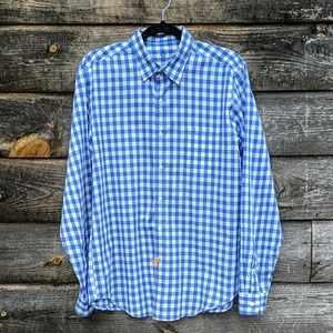 J. Crew Light Weight Shirt Blue Plaid Cotton